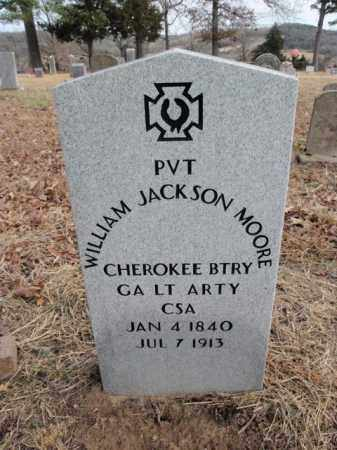 MOORE  (VETERAN CSA), WILLIAM JACKSON - Newton County, Arkansas | WILLIAM JACKSON MOORE  (VETERAN CSA) - Arkansas Gravestone Photos