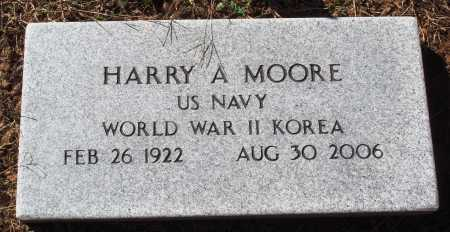 MOORE  (VETERAN 2 WARS), HARRY A - Newton County, Arkansas | HARRY A MOORE  (VETERAN 2 WARS) - Arkansas Gravestone Photos