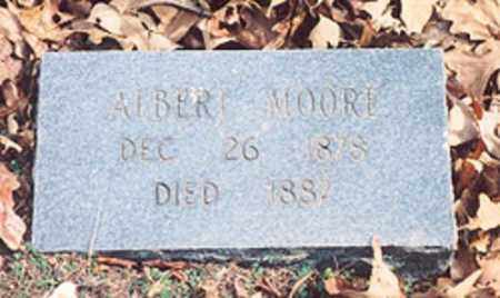 MOORE, ALBERT - Newton County, Arkansas | ALBERT MOORE - Arkansas Gravestone Photos