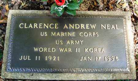 NEAL  (VETERAN 2 WARS), CLARENCE ANDREW - Newton County, Arkansas | CLARENCE ANDREW NEAL  (VETERAN 2 WARS) - Arkansas Gravestone Photos