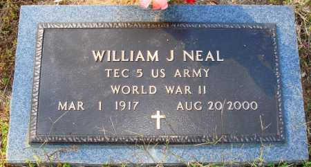 NEAL  (VETERAN WWII), WILLIAM J. - Newton County, Arkansas | WILLIAM J. NEAL  (VETERAN WWII) - Arkansas Gravestone Photos