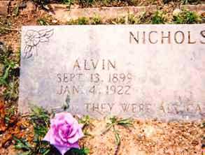 NICHOLS, ALVIN - Newton County, Arkansas | ALVIN NICHOLS - Arkansas Gravestone Photos