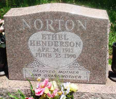 HENDERSON NORTON, ETHEL - Newton County, Arkansas | ETHEL HENDERSON NORTON - Arkansas Gravestone Photos