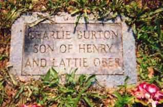 OBER, CHARLIE BURTON - Newton County, Arkansas | CHARLIE BURTON OBER - Arkansas Gravestone Photos