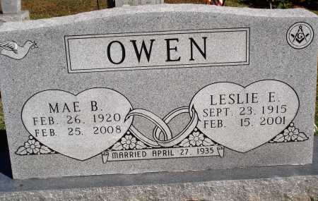 OWEN, LESLIE E. - Newton County, Arkansas | LESLIE E. OWEN - Arkansas Gravestone Photos