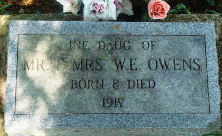 OWENS, INFANT DAUGHTER - Newton County, Arkansas | INFANT DAUGHTER OWENS - Arkansas Gravestone Photos