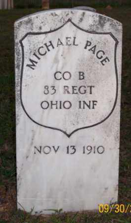 PAGE  (VETERAN UNION), MICHAEL - Newton County, Arkansas | MICHAEL PAGE  (VETERAN UNION) - Arkansas Gravestone Photos