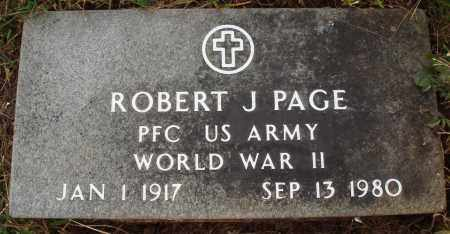 PAGE  (VETERAN WWII), ROBERT J. - Newton County, Arkansas | ROBERT J. PAGE  (VETERAN WWII) - Arkansas Gravestone Photos