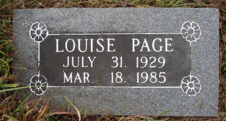 PAGE, ALICE LOUISE - Newton County, Arkansas | ALICE LOUISE PAGE - Arkansas Gravestone Photos