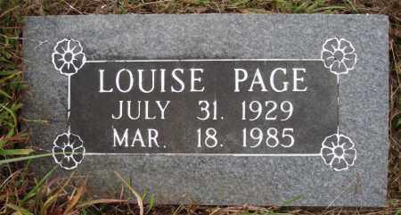 DAVIS PAGE, ALICE LOUISE - Newton County, Arkansas | ALICE LOUISE DAVIS PAGE - Arkansas Gravestone Photos