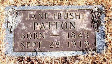 BUSH PATTON, JANE - Newton County, Arkansas | JANE BUSH PATTON - Arkansas Gravestone Photos