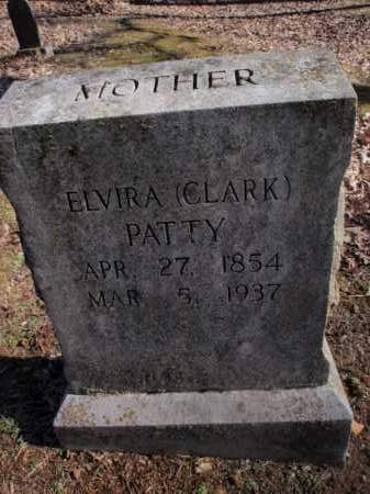 CLARK PATTY, ELVIRA - Newton County, Arkansas | ELVIRA CLARK PATTY - Arkansas Gravestone Photos