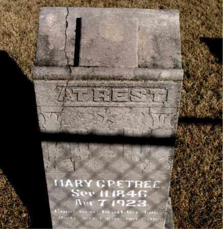 PETREE, MARY C. - Newton County, Arkansas | MARY C. PETREE - Arkansas Gravestone Photos