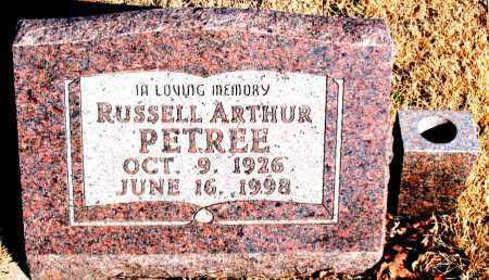 PETREE, RUSSELL ARTHUR - Newton County, Arkansas | RUSSELL ARTHUR PETREE - Arkansas Gravestone Photos