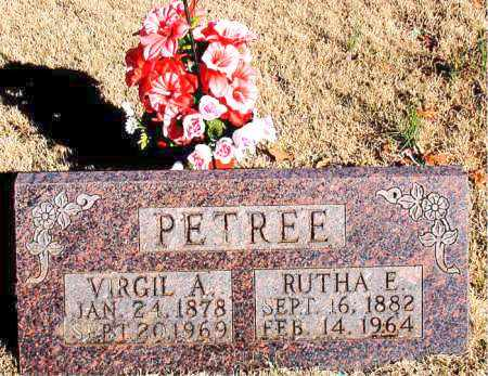 PETREE, VIRGIL A. - Newton County, Arkansas | VIRGIL A. PETREE - Arkansas Gravestone Photos