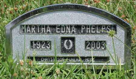PHELPS, MARTHA EDNA - Newton County, Arkansas | MARTHA EDNA PHELPS - Arkansas Gravestone Photos