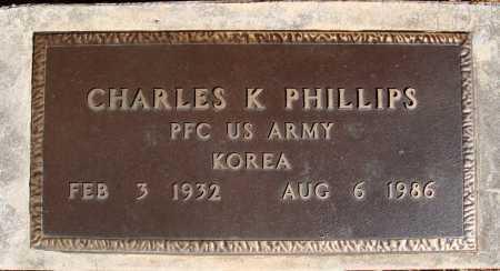 PHILLIPS  (VETERAN KOR), CHARLES K - Newton County, Arkansas | CHARLES K PHILLIPS  (VETERAN KOR) - Arkansas Gravestone Photos