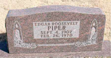 PIPER, EDGAR ROOSEVELT - Newton County, Arkansas | EDGAR ROOSEVELT PIPER - Arkansas Gravestone Photos