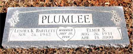 PLUMLEE, ELMER S. - Newton County, Arkansas | ELMER S. PLUMLEE - Arkansas Gravestone Photos