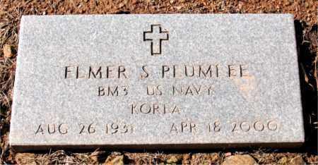 PLUMLEE  (VETERAN KOR), ELMER  S. - Newton County, Arkansas | ELMER  S. PLUMLEE  (VETERAN KOR) - Arkansas Gravestone Photos