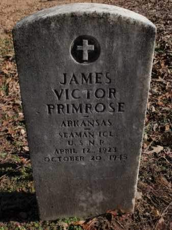PRIMROSE  (VETERAN), JAMES VICTOR - Newton County, Arkansas | JAMES VICTOR PRIMROSE  (VETERAN) - Arkansas Gravestone Photos