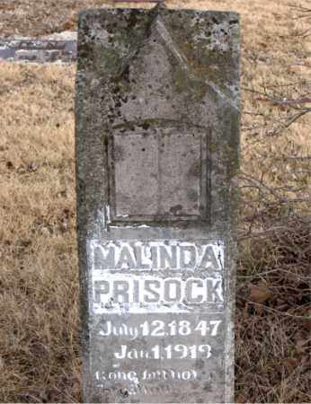 PRISOCK, MALINDA - Newton County, Arkansas | MALINDA PRISOCK - Arkansas Gravestone Photos