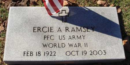 RAMSEY  (VETERAN WWII), ERCIE A - Newton County, Arkansas | ERCIE A RAMSEY  (VETERAN WWII) - Arkansas Gravestone Photos