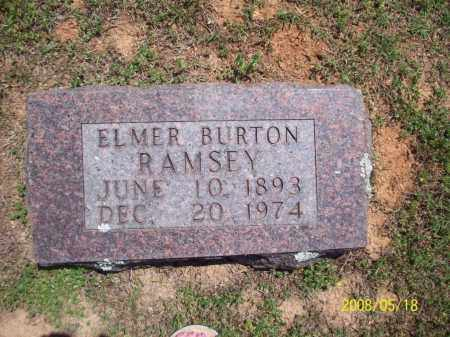 RAMSEY, ELMER BURTON - Newton County, Arkansas | ELMER BURTON RAMSEY - Arkansas Gravestone Photos