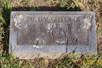 RAMSEY, INFANT DAUGHTER - Newton County, Arkansas | INFANT DAUGHTER RAMSEY - Arkansas Gravestone Photos