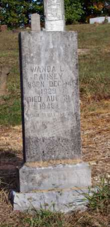 RAMSEY, WANDA L. - Newton County, Arkansas | WANDA L. RAMSEY - Arkansas Gravestone Photos