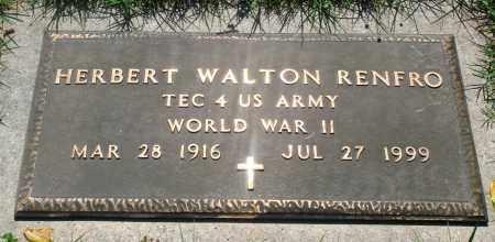RENFRO (VETERAN WWII), HERBERT WALTON - Newton County, Arkansas | HERBERT WALTON RENFRO (VETERAN WWII) - Arkansas Gravestone Photos