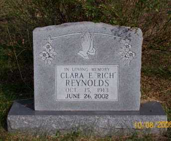 RICH REYNOLDS, CLARA E. - Newton County, Arkansas | CLARA E. RICH REYNOLDS - Arkansas Gravestone Photos