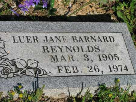 BARNARD REYNOLDS, LUER JANE - Newton County, Arkansas | LUER JANE BARNARD REYNOLDS - Arkansas Gravestone Photos