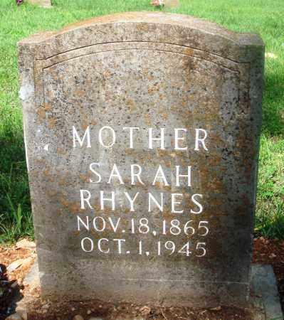 BUSBY RHYNES, SARAH LUCINDA - Newton County, Arkansas | SARAH LUCINDA BUSBY RHYNES - Arkansas Gravestone Photos