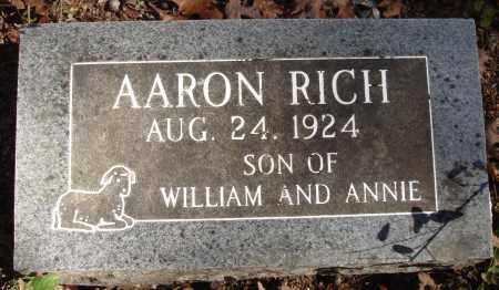 RICH, AARON - Newton County, Arkansas   AARON RICH - Arkansas Gravestone Photos