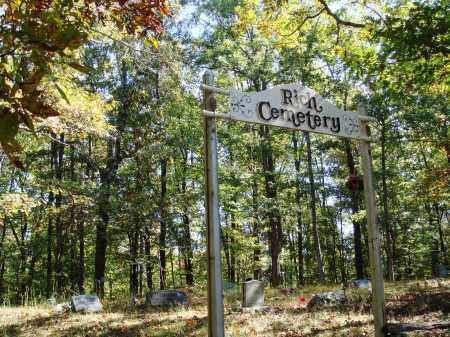 *RICH CEMETERY GATE,  - Newton County, Arkansas |  *RICH CEMETERY GATE - Arkansas Gravestone Photos