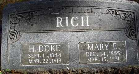 RICH, H. DOKE - Newton County, Arkansas | H. DOKE RICH - Arkansas Gravestone Photos