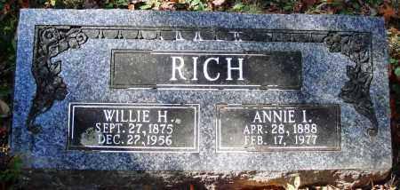 RICH, WILLIE H. - Newton County, Arkansas | WILLIE H. RICH - Arkansas Gravestone Photos