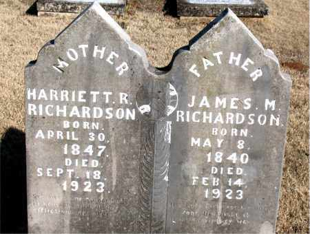RICHARDSON  (VETERAN CSA), JAMES M - Newton County, Arkansas | JAMES M RICHARDSON  (VETERAN CSA) - Arkansas Gravestone Photos