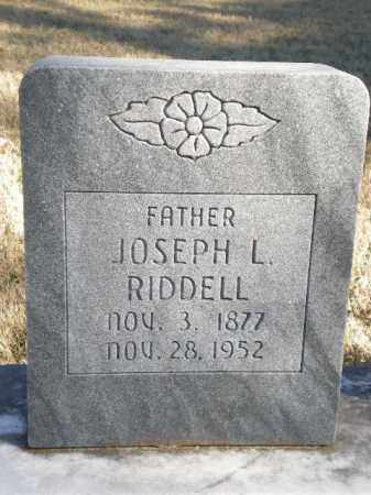 RIDDELL, JOSEPH L - Newton County, Arkansas | JOSEPH L RIDDELL - Arkansas Gravestone Photos