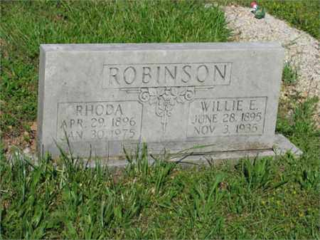 ROBINSON, WILLIE E. - Newton County, Arkansas | WILLIE E. ROBINSON - Arkansas Gravestone Photos