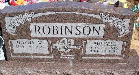ROBINSON, RUSSELL - Newton County, Arkansas | RUSSELL ROBINSON - Arkansas Gravestone Photos