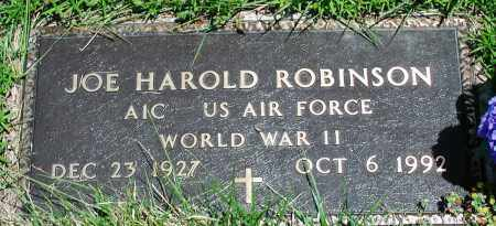 ROBINSON (VETERAN WWII), JOE HAROLD - Newton County, Arkansas | JOE HAROLD ROBINSON (VETERAN WWII) - Arkansas Gravestone Photos