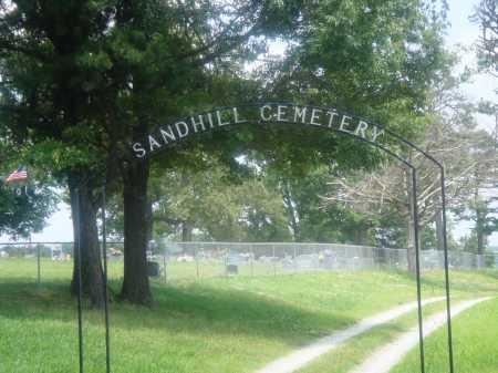 *SANDHILL CEMETERY GATE,  - Newton County, Arkansas |  *SANDHILL CEMETERY GATE - Arkansas Gravestone Photos