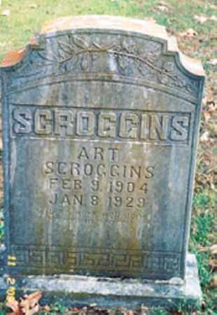 SCROGGINS, ART - Newton County, Arkansas | ART SCROGGINS - Arkansas Gravestone Photos