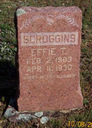 SCROGGINS, EFFIE T. - Newton County, Arkansas | EFFIE T. SCROGGINS - Arkansas Gravestone Photos