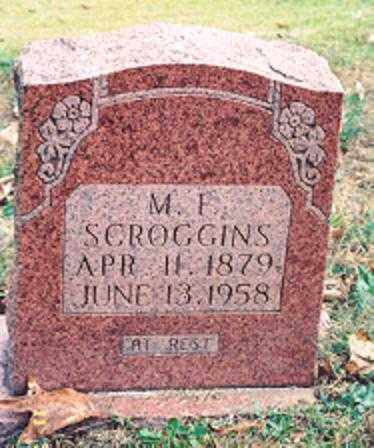 SCROGGINS, M. F. - Newton County, Arkansas | M. F. SCROGGINS - Arkansas Gravestone Photos