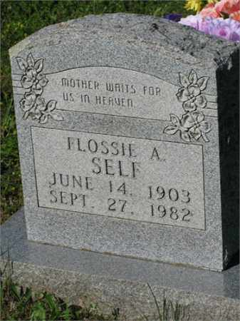 SELF, FLOSSIE A. - Newton County, Arkansas | FLOSSIE A. SELF - Arkansas Gravestone Photos