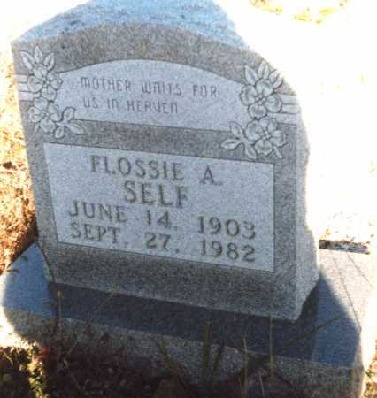 SELF, FLOSSIE - Newton County, Arkansas | FLOSSIE SELF - Arkansas Gravestone Photos