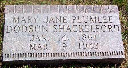 PLUMLEE SHACKELFORD, MARY JANE - Newton County, Arkansas | MARY JANE PLUMLEE SHACKELFORD - Arkansas Gravestone Photos
